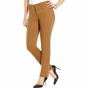 Style & Co Slim Leg Jeans Tobacco Brown 14P NWT